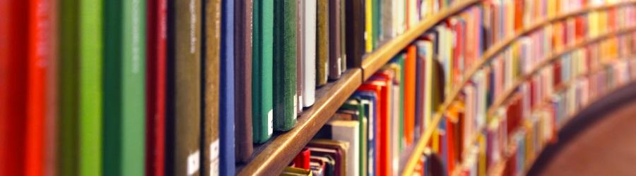 Ein Regal voll mit lesenswerter Literatur