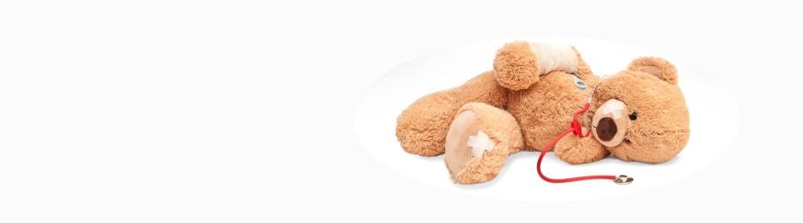 Teddy als Patient